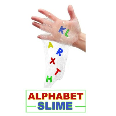 ALPHABET SLIME:  OoEy, GooEy, and oh-so-fun! (Fun & educational play recipe for kids) #alphabetactivities #playrecipes #slimerecipes #kidsactivities