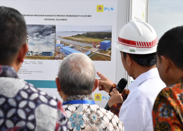 Pembangkit Listrik Tenaga Bayu (PLTB) Sidrap Diresmikan Presiden Jokowi