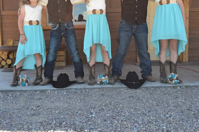 Western Wedding - boots, bouquets, and hats