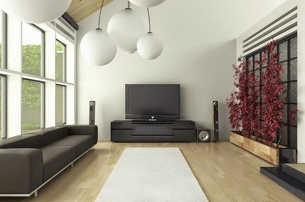 sala color gris y blanco