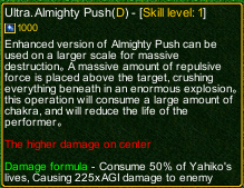 naruto castle defense 6.4 Ultra Almighty Push detail