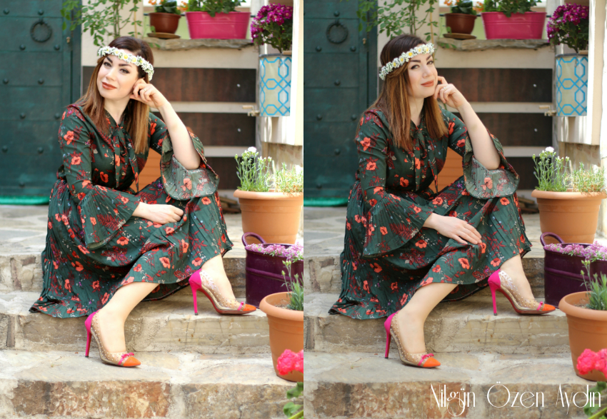 alışveriş-Zaful-çiçekli pileli elbise-blogger etkinliği-moda blogu-fashion blogger