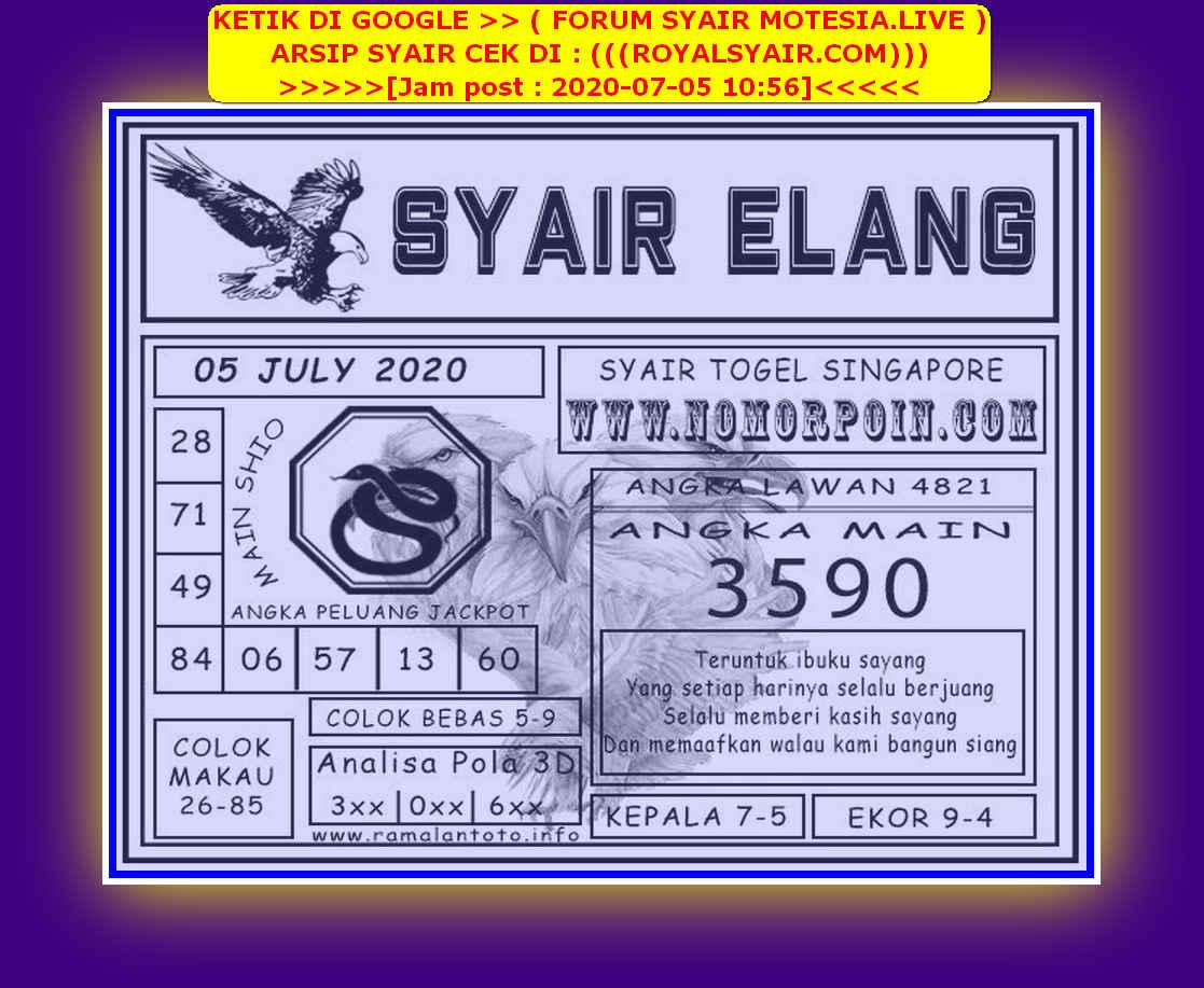 Kode syair Singapore Minggu 5 Juli 2020 93