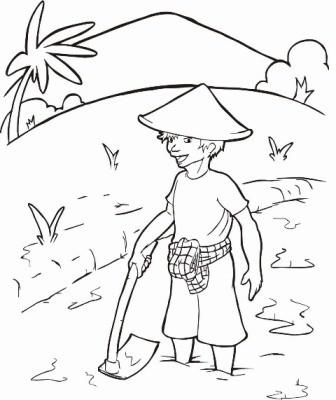 Download Cangkul Petani Kartun Pilihan Cikimm Com