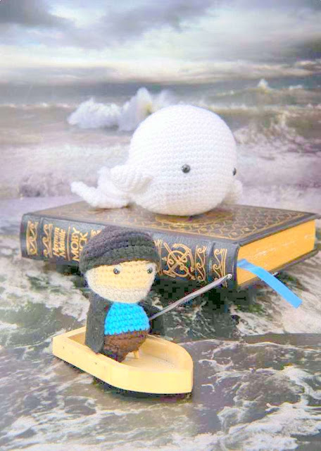 amigurumi captain ahab moby dick white whale crochet patterns
