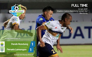 Persib Bandung vs Persela Imbang 1-1, #DjanurOut Kembali Menggema