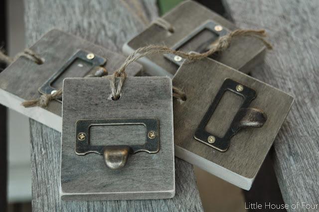 Vintage wood tags