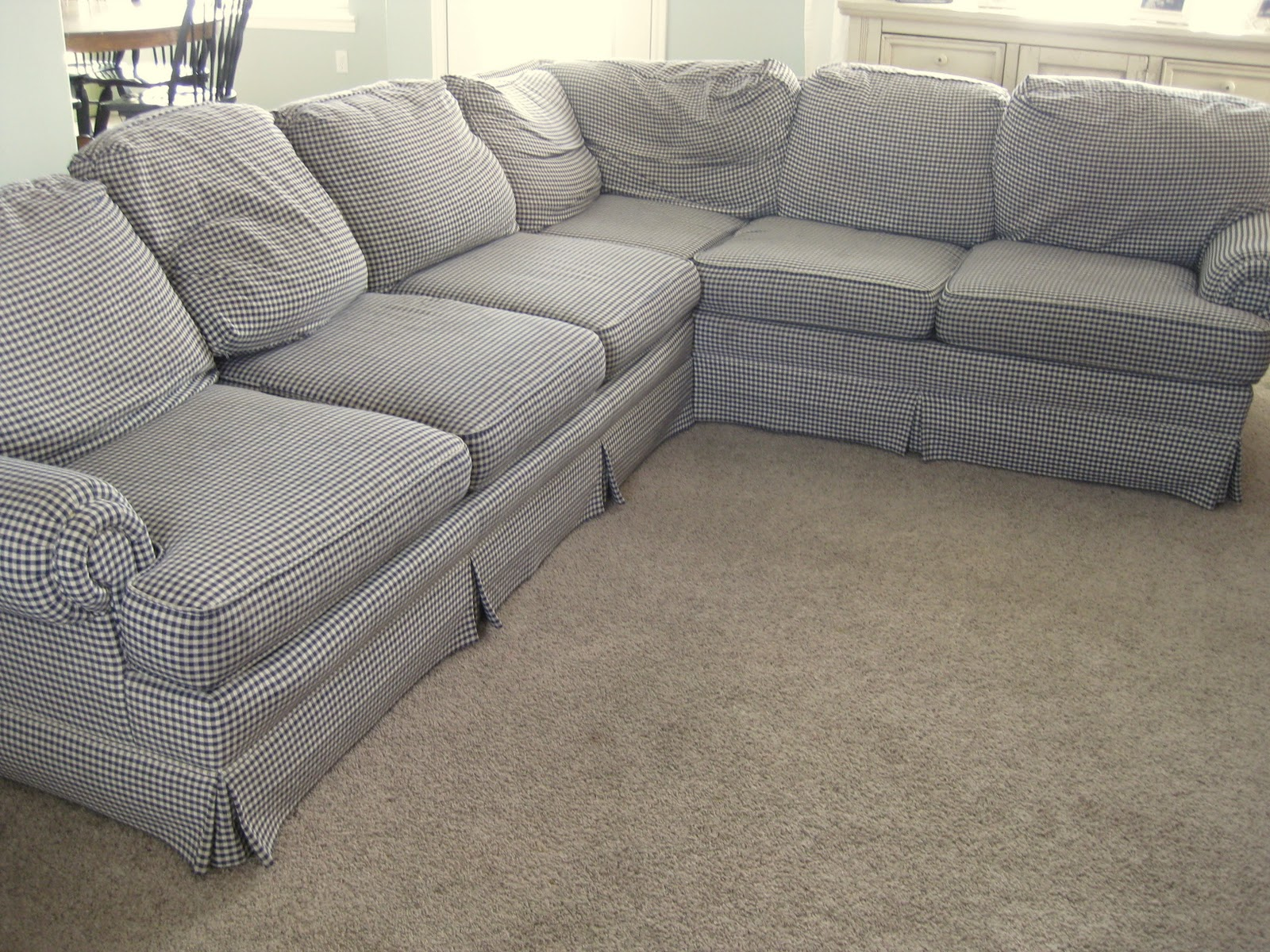 Custom Slipcovers by Shelley 2 piece Sectional