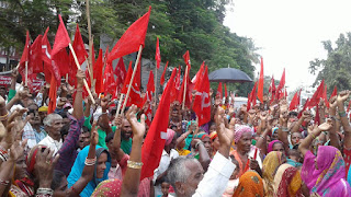cpi-ml-protest-in-madhubani