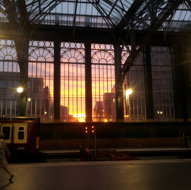 Glasgow Central Train Station at Sunset
