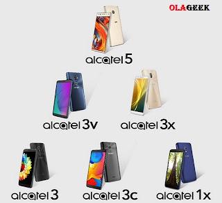 Alcatel 1X, 3, 3C, 3X, 3V, 5