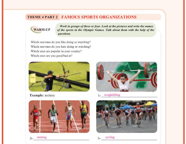 9. Sınıf Yıldırım Yayınları İngilizce A1.2 Ders Kitabı 55. Sayfa Cevapları Theme 4 Sports