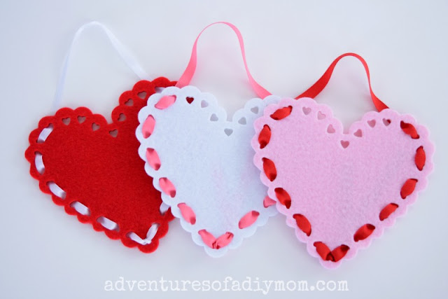 Felt Valentine Heart Pockets
