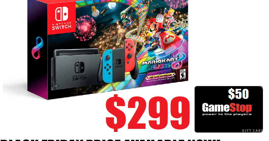 Nintendo Switch System With Mario Kart 8 Deluxe Bundle
