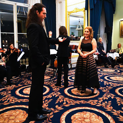 Jack Holton, Sonia Ben-Santamaria and Claire Lees at the Opera Holland Park Young Artists 2019 launch