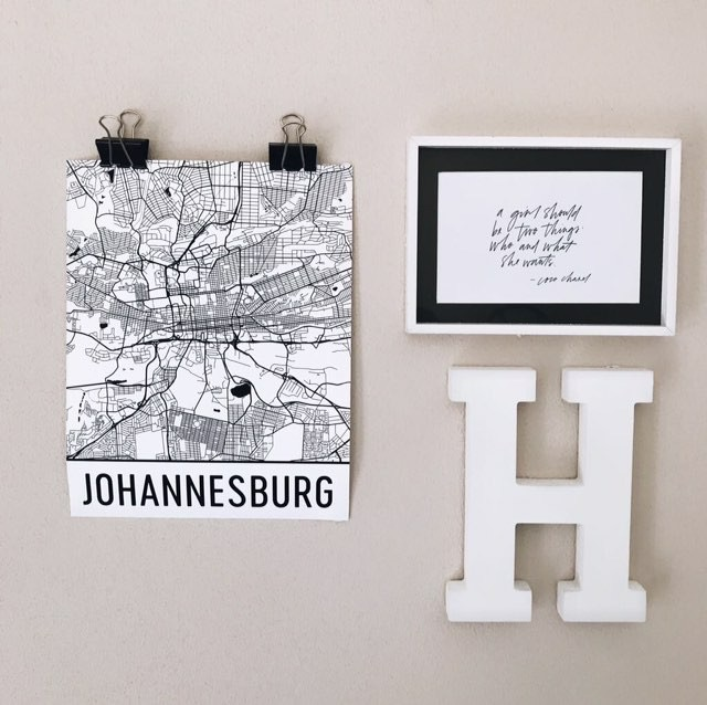 Home Decor With Modern Map Art South African Style
