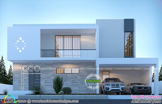 4 bedroom 3350 sq.ft Contemporary home design