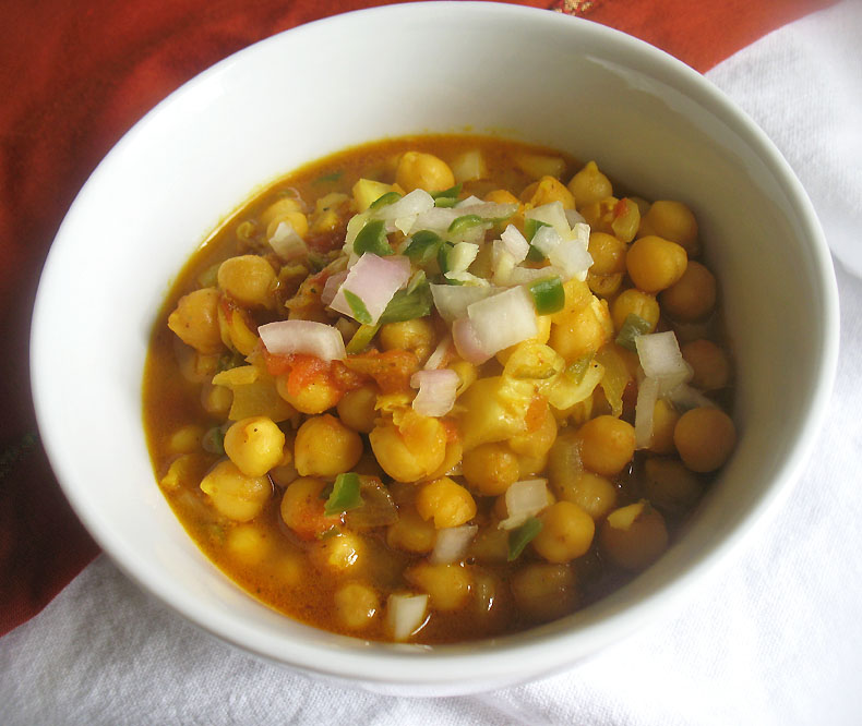 Spicy Sour Chickpea Masala