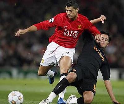 Foto de Cristiano Ronaldo en pleno juego