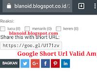Cara Membuat Google URL Shortener Valid Amp Terbaru