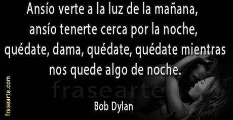 Frases de amor – Bob Dylan