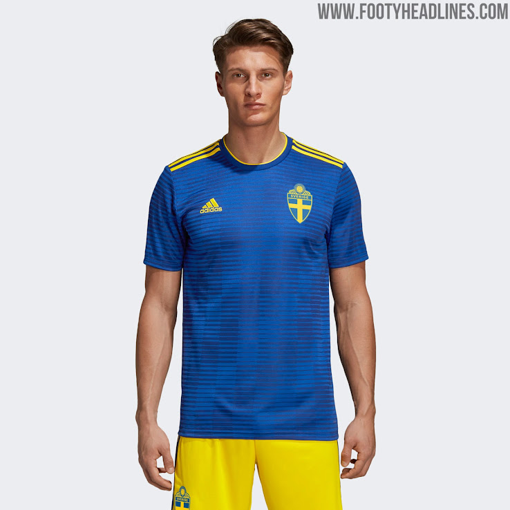 fb90bbc3a Sweden 2018 World Cup Away Kit Released - Footy Headlines