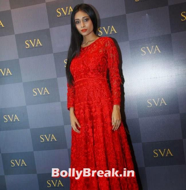 Satyarupa, Mandira Bedi, Neha Sharma, Karishma Tanna, Satyarupa  Photos from SVA Bridal Store Opening