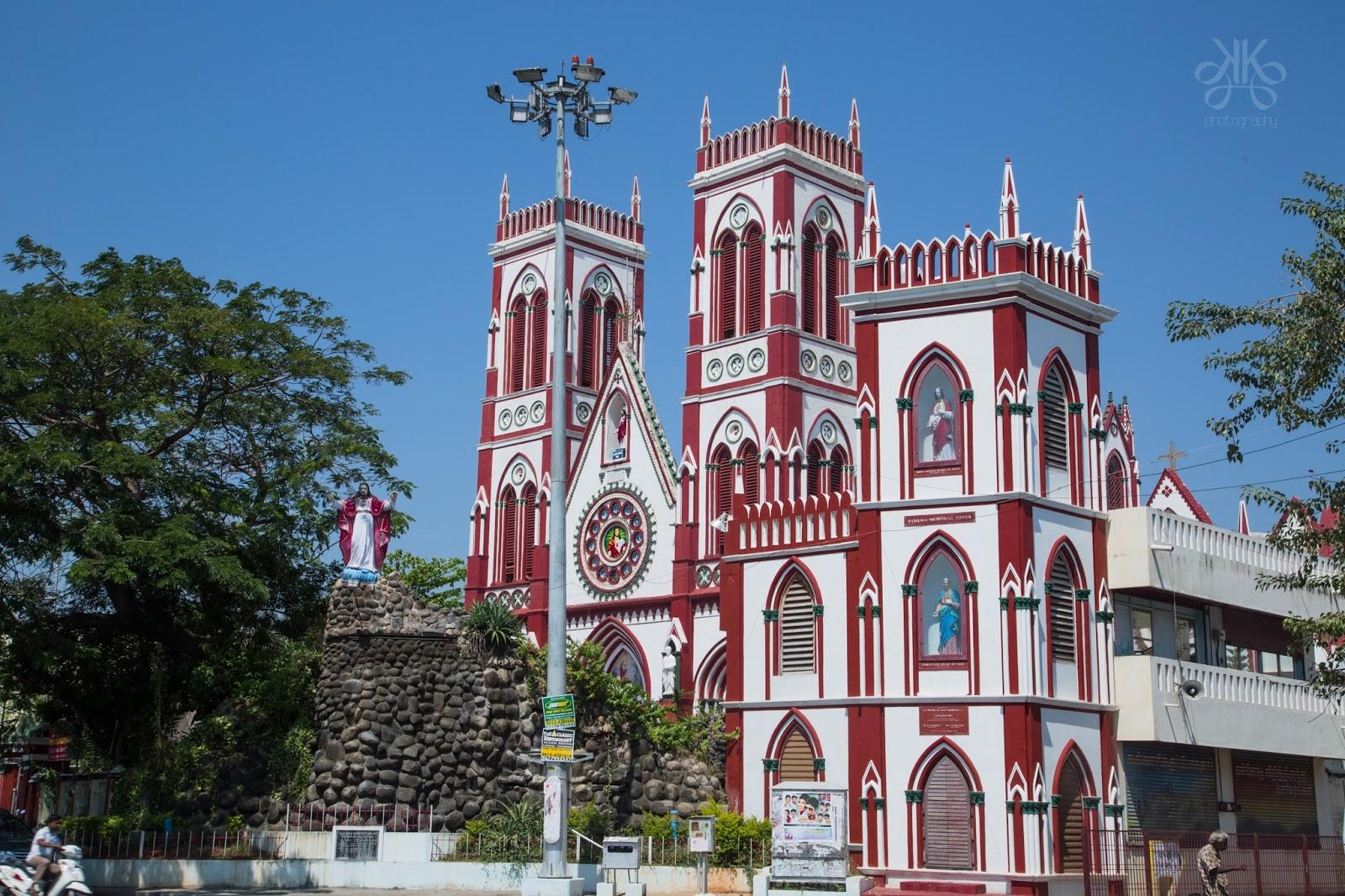 Image result for सैक्रेड हार्ट चर्च ऑफ जीसस- Pondicherry