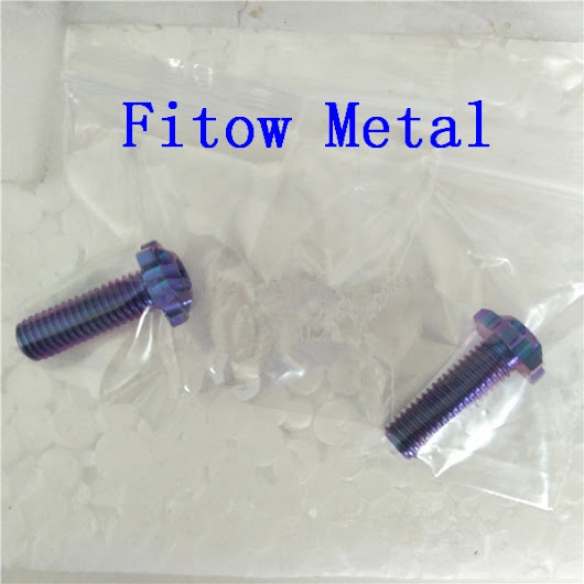 Purple color Gr5 titanium custom milling head bolts M8x20 for ducati wheels for sale