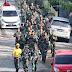 Minggu Militer : 109 Prajurit Korem 091/ASN Gelar Lari Jalan