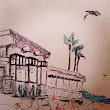 Landscape Paintings & Drawings: Architecture Studies- Pen and Watercolor