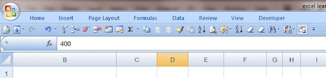 Excel's menu tap and Quick access toolbar