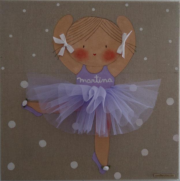 Cuadros personalizados cuadros infantiles bailarinas - Cuadros fotos personalizados ...