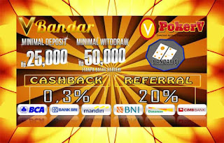 Dua Kali Bonus Cashback Dalam seminggu Judi BandarQ Online VBandar.info