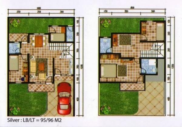 Contoh Denah Rumah Minimalis Type 54  34 gaya terbaru desain rumah minimalis 2 lantai type 54