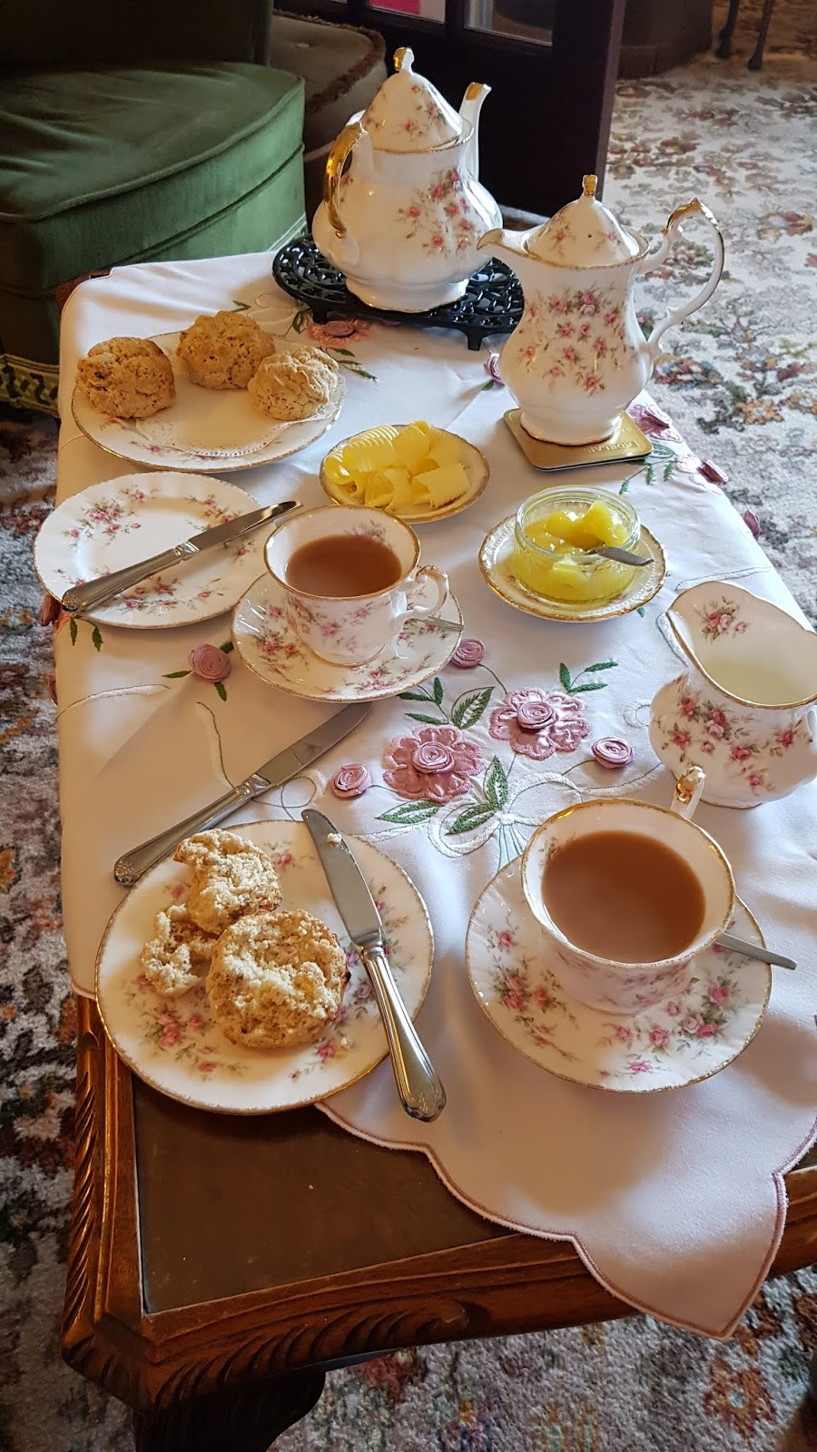 Brookfield House B&B in Shap, Cumbria, presents walkers doing the Coast to Coast walk with delicious warm scones and lemon curd with tea