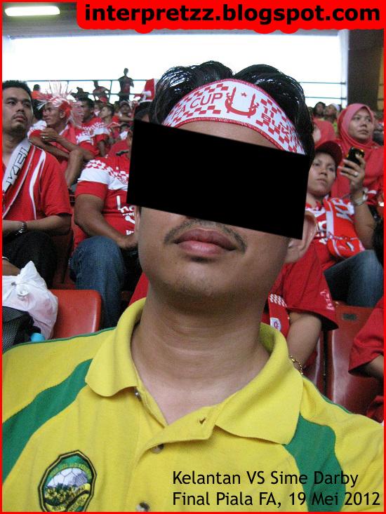 gambar penyokong Kedah sesat sokong Kelantan