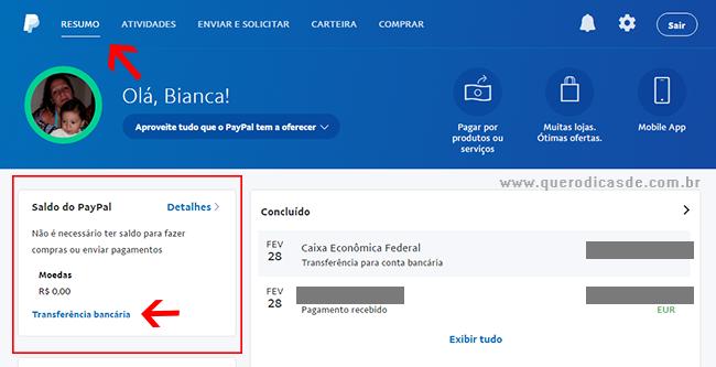 Como transferir dinheiro do PayPal para sua conta bancária?
