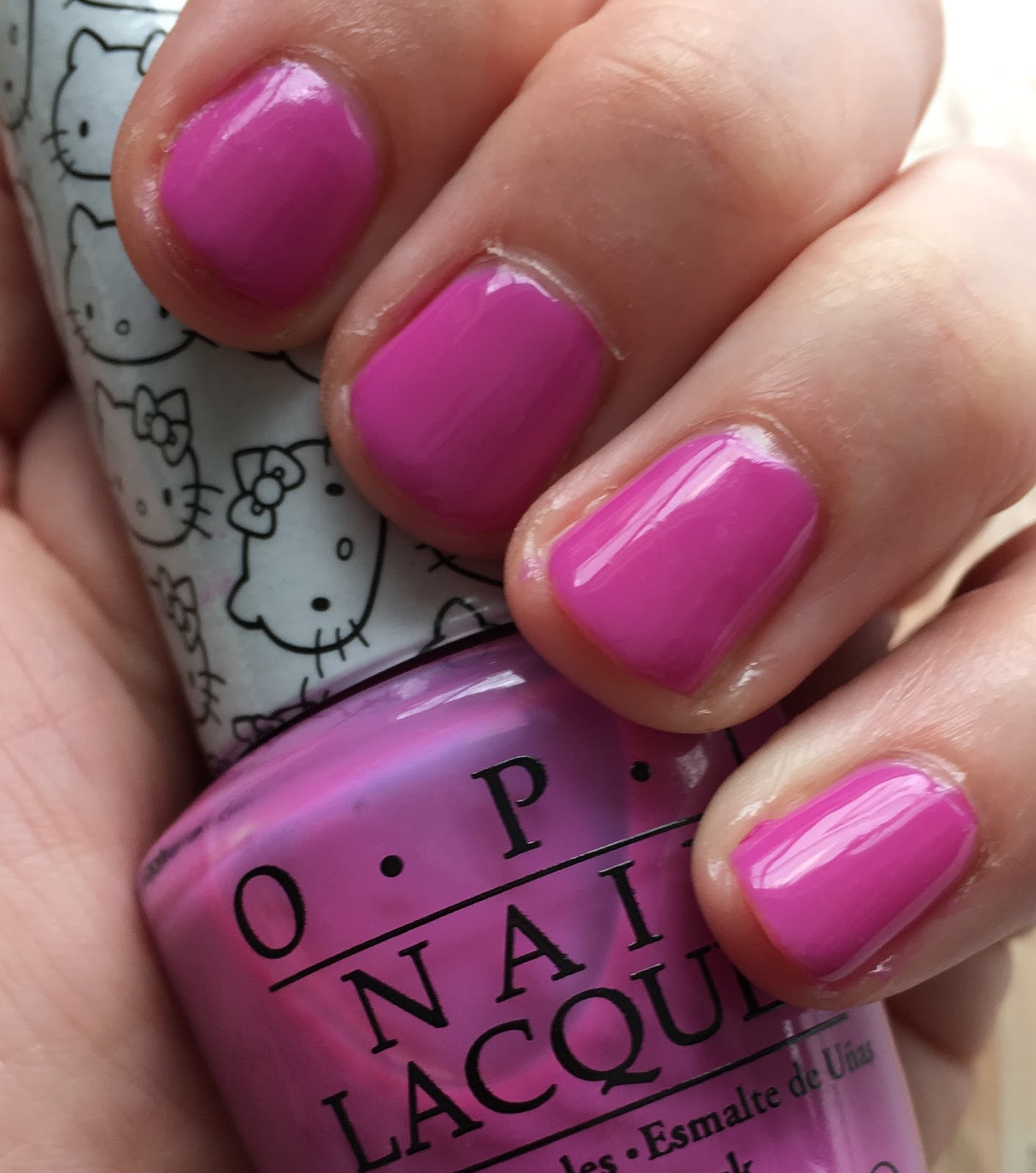 Nail Colors Cute: The Beauty Of Life: #ManiMonday: Hello Kitty By OPI Super