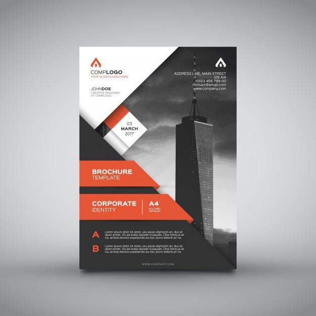 Useful business brochure Free Vector