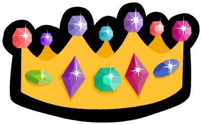 couronne de roi avec des pierres précieuses (dessin)
