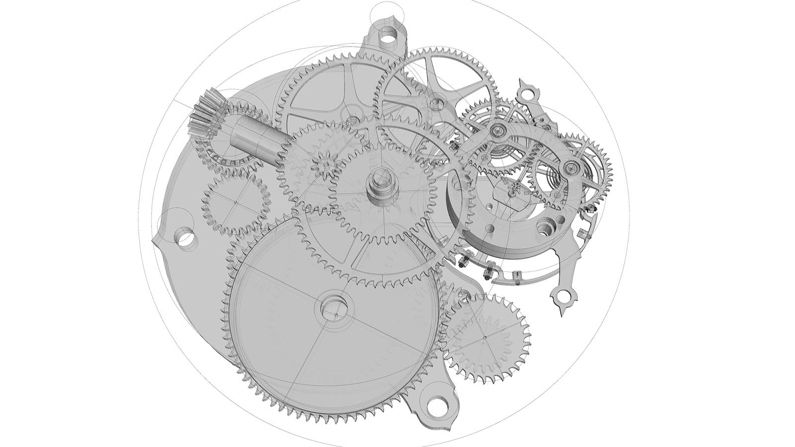 pocket watch movement diagram 1995 ford ranger alternator wiring the gallery for gt gears drawing