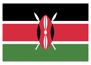 Flag Kenya Logo Vector