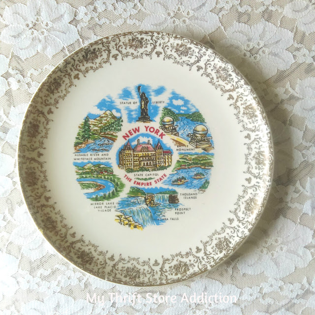 vintage state souvenir plate New York