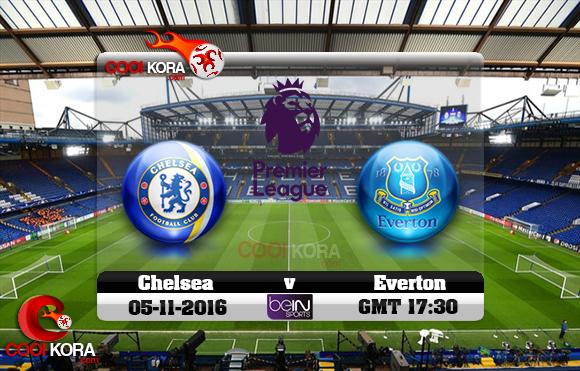 مشاهدة مباراة تشيلسي وإيفرتون اليوم 5-11-2016 في الدوري الإنجليزي