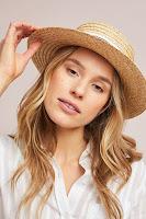 Девушка в соломенной шляпе канотье