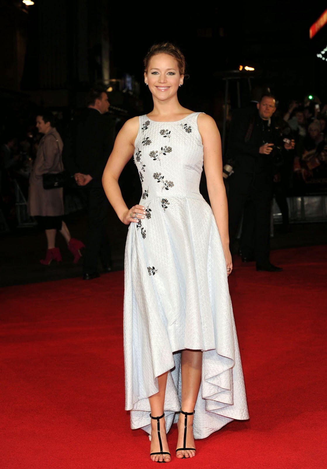 Jennifer Lawrence at Premiere of 'The Hunger Games: Mockingjay Part 1′ in London