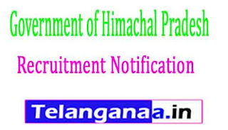 Government of Himachal Pradesh Recruitment Notification 2017