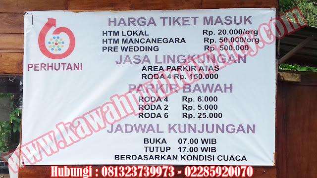 Beli tiket kawah putih online dari purworejo