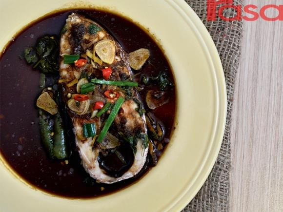 resepi ikan merah kukus kicap halia